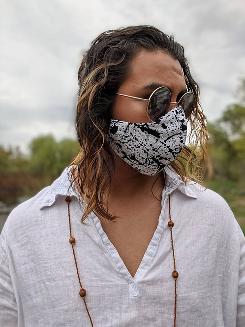 White Paint Splatter Mask