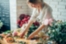 Small business. Male florist unfocused i