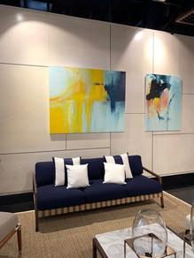 Anne Vandycke Paintings at Fendi Showroom