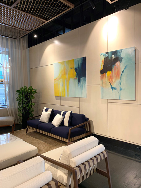 Anne Vandycke Paintings at Fendi Showroom