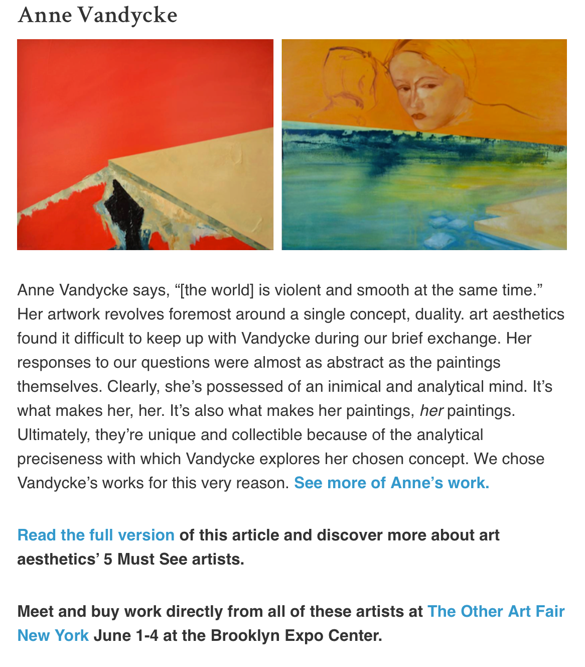 Art Aesthetics Article on Saatchi Art Blog