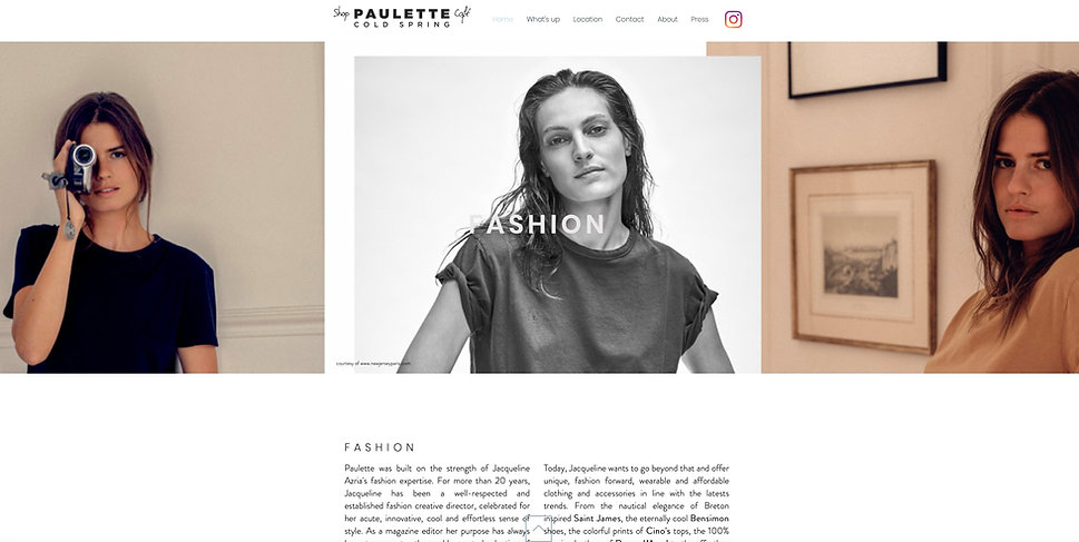 Anne Vandycke for Paulette Cold Spring