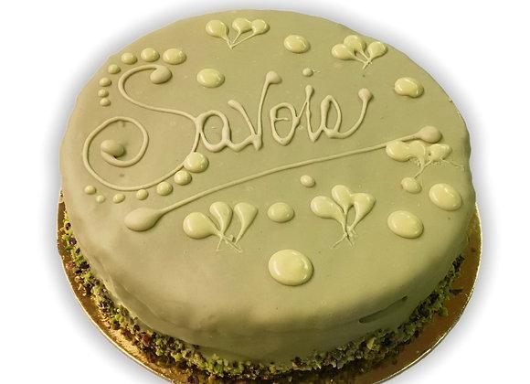 Torta Savoia al pistacchio di Sicilia