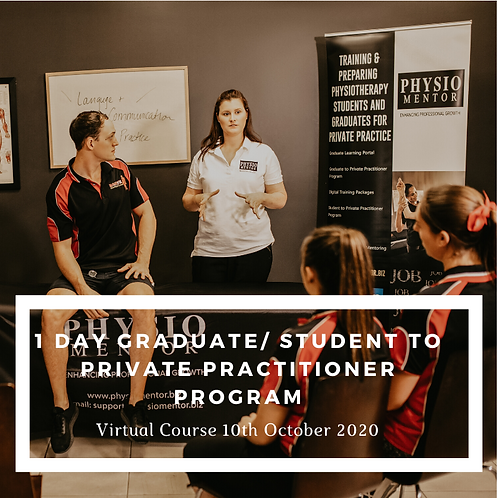 1 Day Graduate/Student to Private Practitioner Course - 10th October 2020