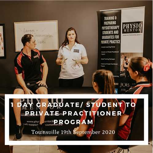 1 Day Graduate/Student to Private Practitioner Course -Townsville 18th Sept 2020