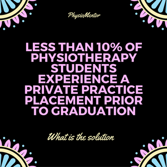 Blog #11 - Less than 10% of Physiotherapy Students Experience a Private Practice Placement Before th