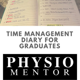 Blog # 27- Time Management Diary for Graduates.