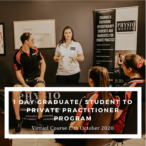 1 Day Graduate/Student to Private Practitioner Course -  17th Oct 2020