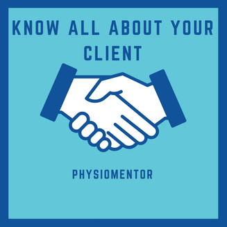 Blog #32- Know All About Your Client