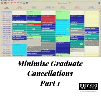 Blog #20 - Part 1 of 3 Tips to Minimise Graduate Cancellations in Private Practice