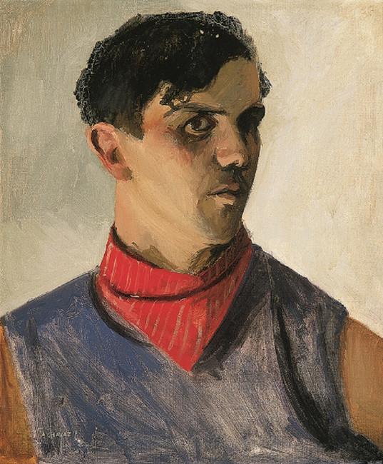 Autoportrait au foulard