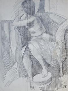 Lily modèle au fauteuil
