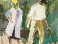 Couple au jardin