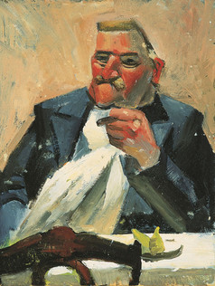 Homme au cigare