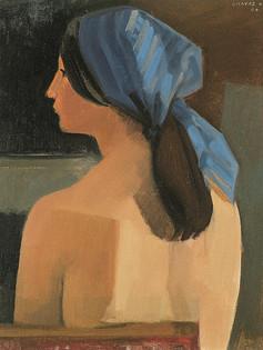Michèle foulard bleu