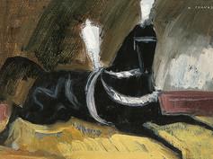 Cheval noir Knie