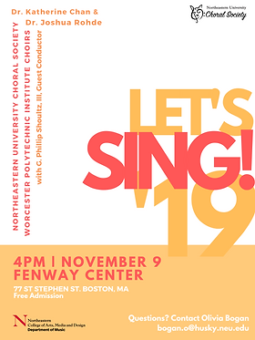 NORTHEASTERN UNIVERSITY CHORAL SOCIETY W