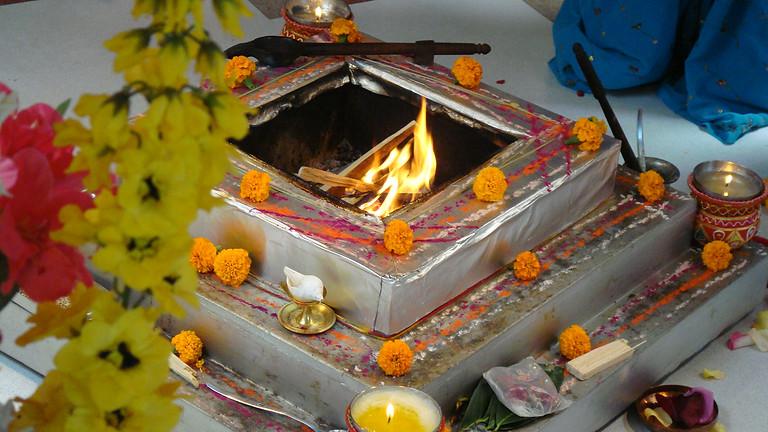Vedische Feuerzeremonie in Zell