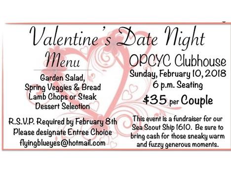 Reserve Valentine's Date Night by Feb 8