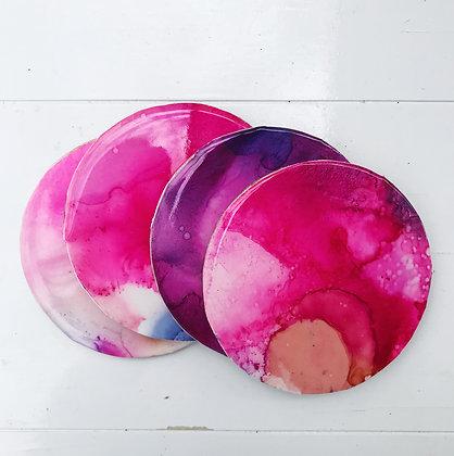 Coasters - set of 4 (purple)