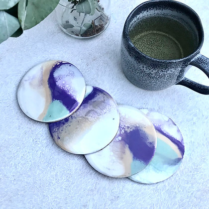 Coasters (set of 4) purple