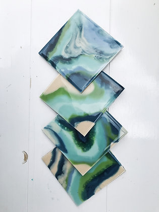 Coasters - set of 4 (navy)