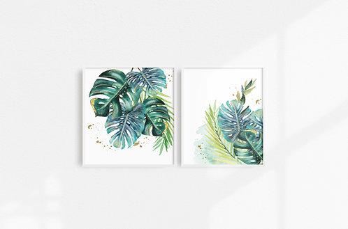 Duo feuilles de palmier