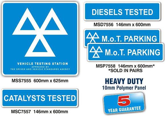 MOT SIGNS - EXTERIOR HEAVY DUTY - 10MM PANEL