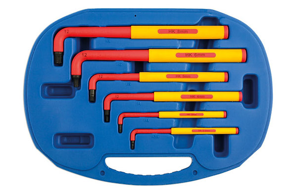 VDE INSULATED HEX KEY SET EXTRA LONG 6PC