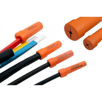 CABLE END SHROUDS WITH GRIP COLLARS - 3 PIECE SET