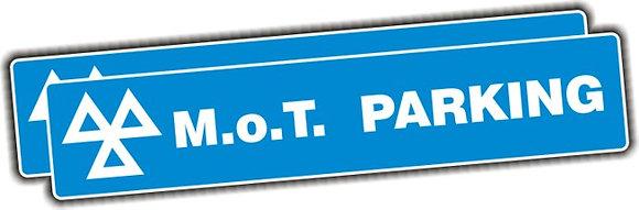 MOT SIGN - MOT PARKING SIGNS (PAIR) - 3MM PANEL