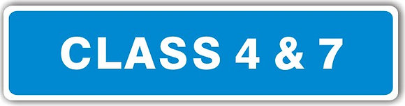 MOT SIGN - CLASS 4 AND 7