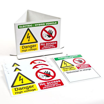 EHV WARNING SIGN PACK - INCLUDES RTP7234, EVS7223 & BCS3277