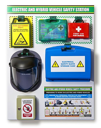PROSTORE EHV FIRST AID AND PPE SHADOW PANEL STORAGE BOARD (WITH PRODUCTS)