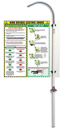 PROSTORE RESCUE POLE HOLDER AND ELECTRIC SHOCK SAFETY ADVICE PANEL