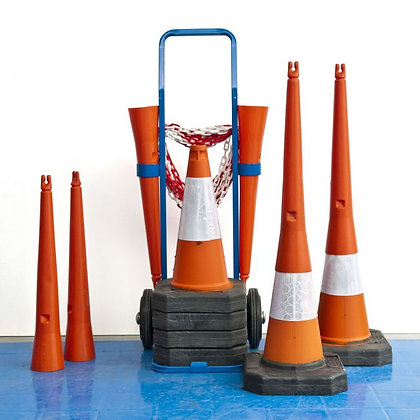 HAZARD AREA CONE & CHAIN SYSTEM WITH TROLLEY