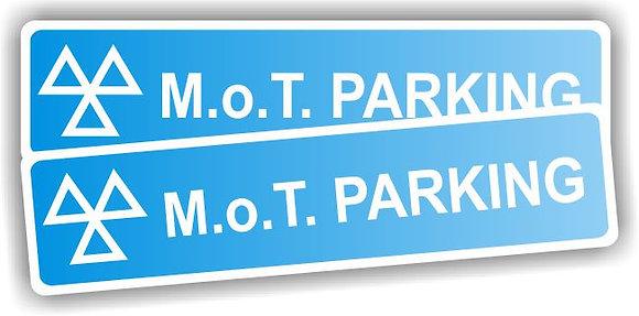 MOT SIGN - MOT PARKING SIGN - REFLECTIVE (PER PAIR)