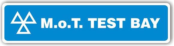 MOT SIGN - TEST BAY