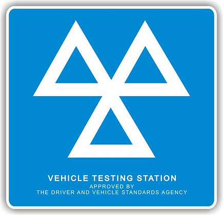 MOT SIGN - 3 TRIANGLES (MANDATORY) - EXTERIOR STANDARD (3MM PANEL)