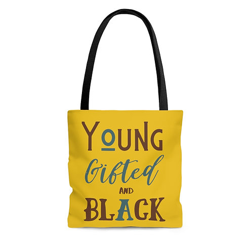 Young Gifted & Black Tote Bag in Mustard