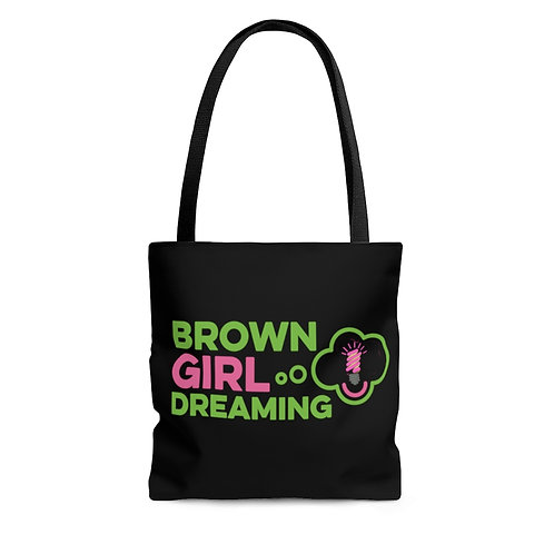Brown Girl Dreaming Tote in black