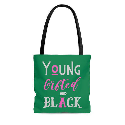 Young Gifted & Black Tote Bag in Green