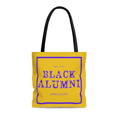 Purple and Gold Black Alumni Association Tote