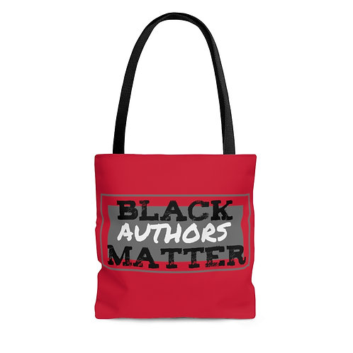 Black Authors Matter Tote in Red