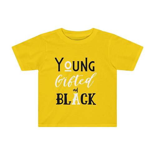 Young Gifted and Black Toddler Tee