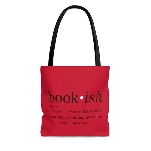 Bookish Tote Bag in Red