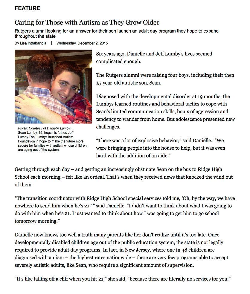 Hope Autism Foundation article