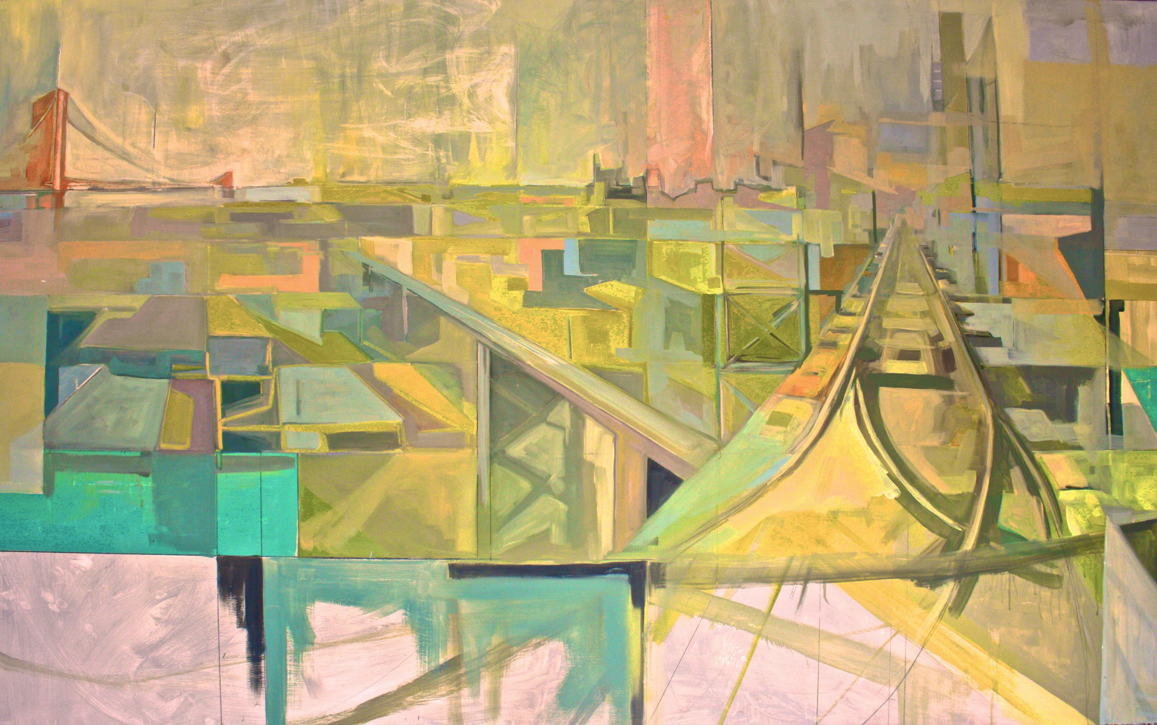 'Rail',2010.oilonboard ,44''x60'.