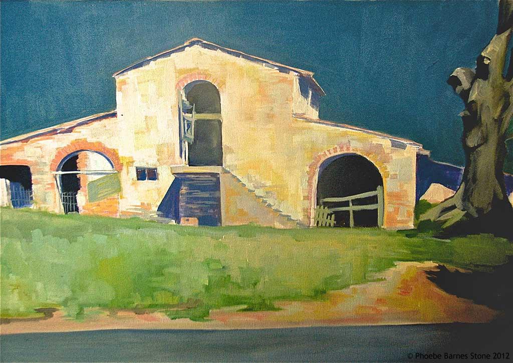 'TuscanBarn',oiloncanvas,16''x24''.