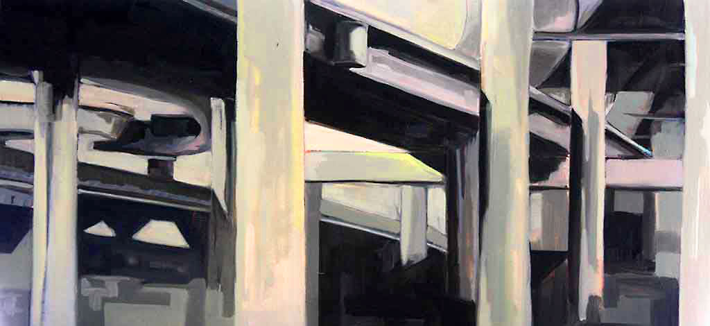 '93North',oiloncanvas,16''x36''.